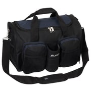 Everest 18'' Sports Travel Duffel w/ Wet Pocket; Navy/Black
