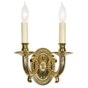 JVI Designs 2-Light Wall Sconce; Pewter
