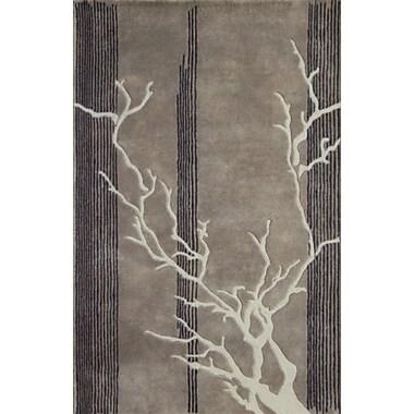 MOTI Rugs Dendro Grey Rug; Rectangle 5' x 8'