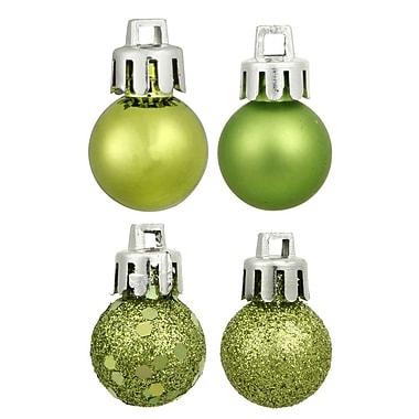 Vickerman 4 Piece Ball Drilled Ornament Set; Lime