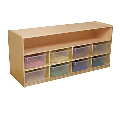 Wood Designs 8 Compartment Shelving Unit w/ Casters