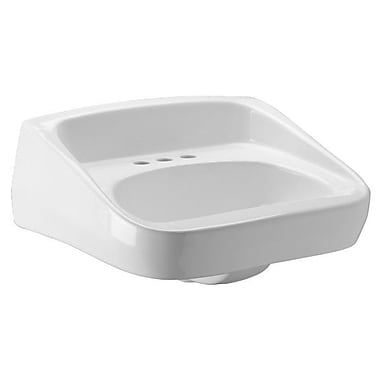 Zurn Standard Arm Ceramic 20'' Wall Mount Bathroom Sink w/ Overflow; Single Hole