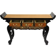 Oriental Furniture Altar Console Table; Gold Leaf