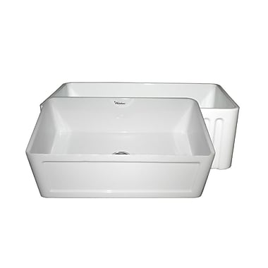 Whitehaus Collection Farmhaus 30'' x 18'' Single Bowl Farmhouse Kitchen Sink; White