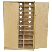 Wood Designs Tablet Charging 30 Compartment Classroom Cabinet w/ Doors