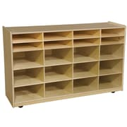 Wood Designs 20 Compartment Cubby w/ Casters