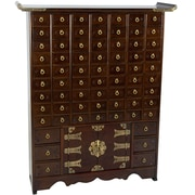 Oriental Furniture Korean 69 Drawer Apothecary Accent Chest