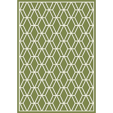 Dynamic Rugs Trend Green Geometric Area Rug; 5'3'' x 7'7''