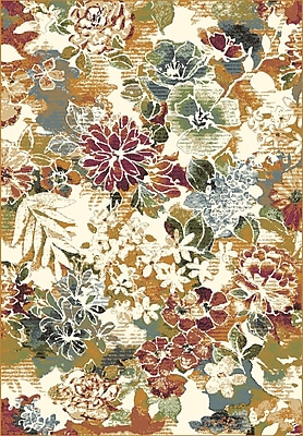 Dynamic Rugs Heritage Floral Area Rug; Rectangle 3'6'' x 5'6''