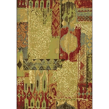 Dynamic Rugs Heritage Sage / Red Area Rug; 2' x 3'7''
