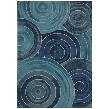 Kathy Ireland Home Gallery Palisades Ovation Hand-Tufted Denim Area Rug; 5' x 7'6''