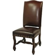 MOTI Furniture Bonded Leather High Back Side Chair; Burgundy