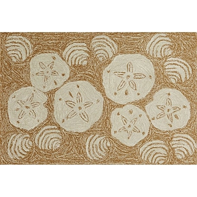 Liora Manne Frontporch Natural Shell Toss Indoor/Outdoor Area Rug; 2'6'' x 4'