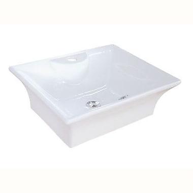 Elements of Design Forte Ceramic Rectangular Vessel Bathroom Sink w/ Overflow