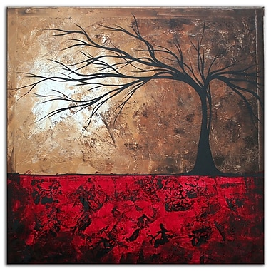 Metal Art Studio Lost in the Forest by Megan Duncanson Painting Print Plaque
