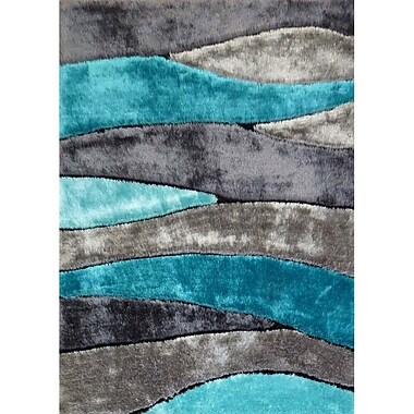 Rug Factory Plus Living Shag Blue/Gray Rug; 5' x 7'