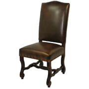 MOTI Furniture Bonded Leather High Back Side Chair; Chestnut