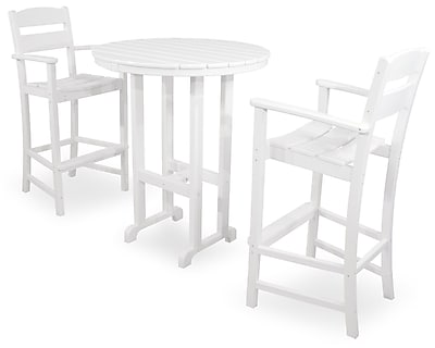 Ivy Terrace Classics 3 Piece Bar Height Dining Set; White