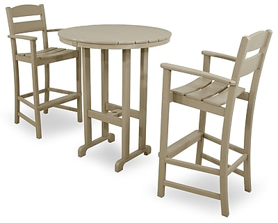 Ivy Terrace Classics 3 Piece Bar Height Dining Set; Sand
