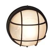TransGlobe Lighting 1-Light Outdoor Bulkhead Light; Black