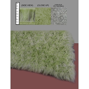 Ixi Eros Faux Flokati Green Area Rug Rectangle 2