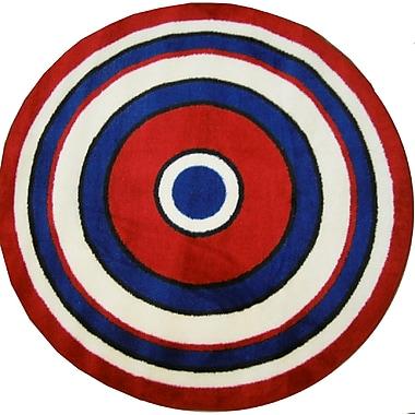 Fun Rugs Fun Shape High Pile Concentric Circles Area Rug; Round 4'3''