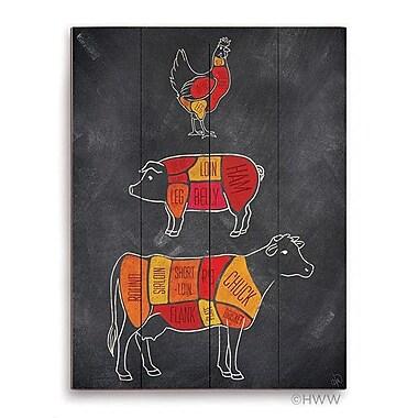 Click Wall Art Parts Of Farm Animals Graphic Art; 16'' H x 20'' W x 1'' D