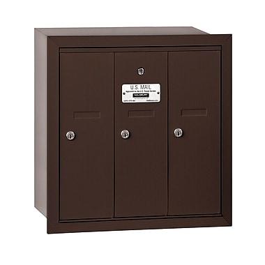 Salsbury Industries 3 Door Front Load Vertical Mail Center; Bronze