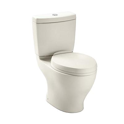 Toto Aquia Dual Flush Elongated Two-Piece Toilet; Sedona Beige