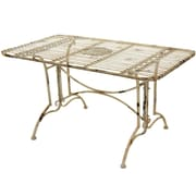 Oriental Furniture Dining Table; Distressed White