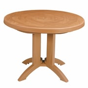 Grosfillex Commercial Resin Furniture Atlantis Dining Table; Teakwood