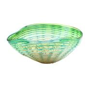 Diamond Star Glass Contemporary Green Decorative Bowl