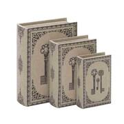 Woodland Imports Library Storage Books Box (Set of 3)