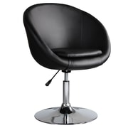 Ceets Barrel Adjustable Leisure Swivel Barrel Chair; Black