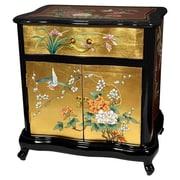 Oriental Furniture Asian End Table w/ Storage