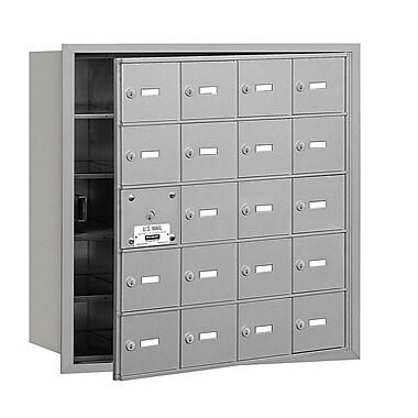 Salsbury Industries 20 Door Front Load 4B Horizontal Mail Center; Aluminum