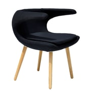 Ceets Clipper Lounge Chair; Black