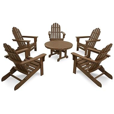 Trex Cape Cod Folding 6 Piece Adirondack Seating Group; Tree House