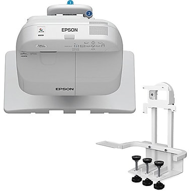 Epson – Projecteur interactif BrightLink Pro 1420Wi WXGA 3LCD avec dispositif de fixation sur table