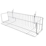 "Can-Bramar Universal Wire Shelves, 24"" x 6.5"" x 4-3/4"", White"