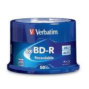 Verbatim – Disques 6X BD-R 25GB avec logo, 50 disques/carrousel