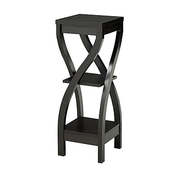 Brassex 14851 2-Tier Plant Stand, 11.5 x 11.5 x 32, Dark Cherry