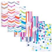 FiveStarMD – Cahier de notes à 2sujets stylisés, 6po x 91/2po, couleurs variées, 200pages