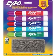 Expo® Low Odour Dry-Erase Starter Kit, Chisel Tip, Assorted, 10/Pack