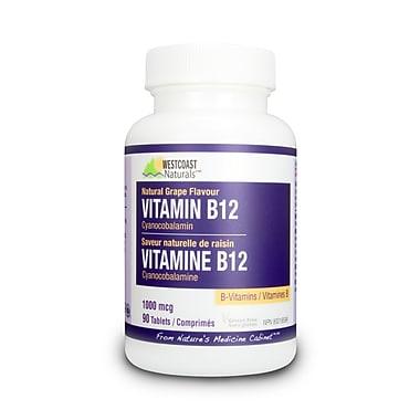 Westcoast Naturals – 30209, Vitamine B12, 90 comprimés, blanc