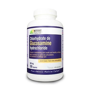 Westcoast Naturals – Chlorhydrate de glucosamine (30342), 200 capsules, blanc