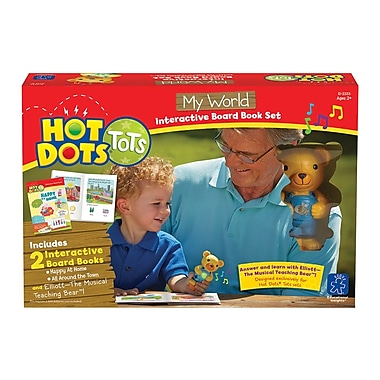 Educational Insights® Hot Dots Tots My World Interactive Board Book Set 2333