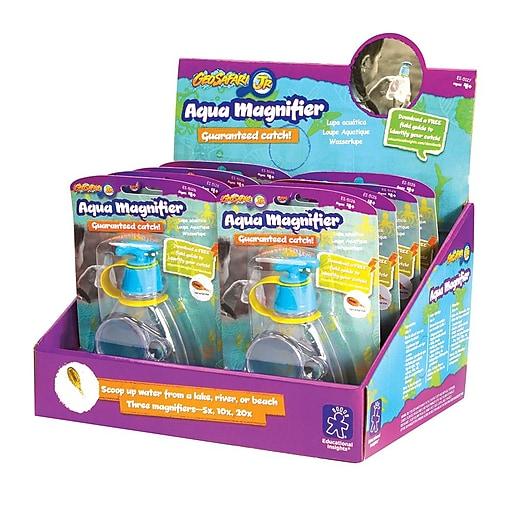 Educational Insights GeoSafari® Aqua Magnifier Display of 8 - 5127