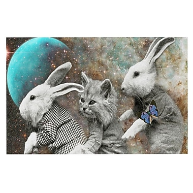 KESS InHouse Space Travel by Suzanne Carter Fleece Throw Blanket; 80'' H x 60'' W x 1'' D