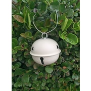 Craft Outlet Jingle Bell Ornament (Set of 12); Cream
